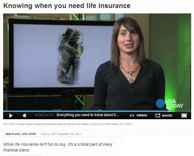 knowing when you need life insurance